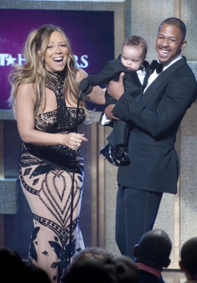 Mariah Carey, Moroccan Scott Cannon and Nick Cannon attend BET Honors 2012 at the Warner Theatre in Washington, D.C. on January 14, 2012
