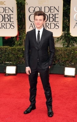 Chris Colfer steps out at the 69th Annual Golden Globe Awards held at the Beverly Hilton Hotel in Beverly Hills, Calif. on January 15, 2012 