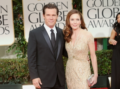 Josh Brolin and Diane Lane arrive at the 69th Annual Golden Globe Awards held at the Beverly Hilton Hotel in Beverly Hills, Calif. on January 15, 2012