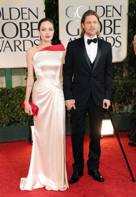 Angelina Jolie and Brad Pitt step out at the 69th Annual Golden Globe Awards held at the Beverly Hilton Hotel in Beverly Hills, Calif. on January 15, 2012