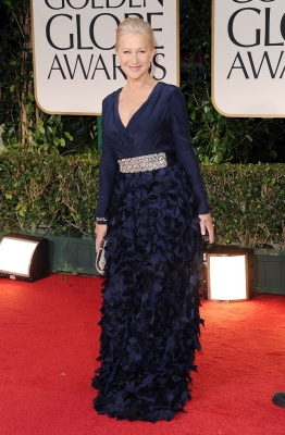 Helen Mirren arrives at the 69th Annual Golden Globe Awards held at the Beverly Hilton Hotel in Beverly Hills on January 15, 2012