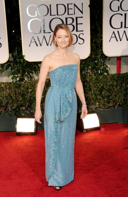Jodie Foster arrives at the 69th Annual Golden Globe Awards held at the Beverly Hilton Hotel in Beverly Hills on January 15, 2012