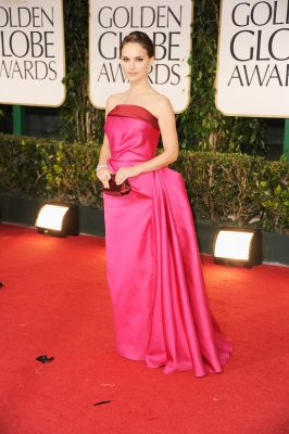 Natalie Portman arrives at the 69th Annual Golden Globe Awards held at the Beverly Hilton Hotel in Beverly Hills on January 15, 2012