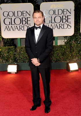 Leonardo DiCaprio arrives at the 69th Annual Golden Globe Awards held at the Beverly Hilton Hotel in Beverly Hills, Calif. on January 15, 2012