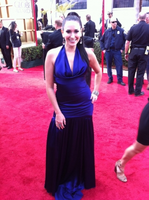 AccessHollywood.com&#8217;s Laura Saltman on the 2012 Golden Globes red carpet