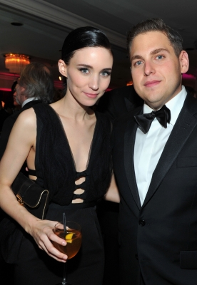 Rooney Mara and Jonah Hill attend Sony Pictures Classics' 69th Annual Golden Globe Awards After Party at The Beverly Hilton Hotel, Beverly Hills, on January 15, 2012