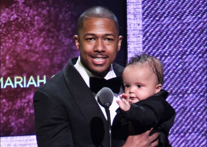Nick Cannon and Moroccan Scott Cannon are seen on stage at BET Honors 2012 at the Warner Theatre in Washington, D.C. on January 14, 2012