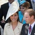 Catherine, Duchess of Cambridge and Prince William, Duke of Cambridge leave Canongate Kirk on the afternoon of the wedding of Mike Tindall and Zara Philips in Edinburgh, Scotland, on July 30, 2011 