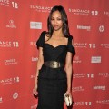 Zoe Saldana attends the Music Cafe Day 8 during the 2012 Sundance Film Festival in Park City, Utah, on January 27, 2012