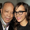 Proud papa Quincy Jones poses with daughter Rashida Jones at the 'Celeste And Jesse Forever' Premiere at the Eccles Center Theatre during the 2012 Sundance Film Festival in Park City, Utah, on January 20, 2012