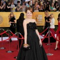 Emma Stone arrives at the 18th Annual Screen Actors Guild Awards at The Shrine Auditorium in Los Angeles on January 29, 2012 