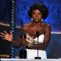 Viola Davis accepts the Outstanding Performance by a Female Actor in a Leading Role award for 'The Help' onstage during the 18th Annual Screen Actors Guild Awards at The Shrine Auditorium on January 29, 2012 in Los Angeles