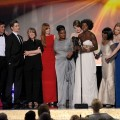 The cast of 'The Help' accepts the Outstanding Performance by a Cast in a Motion Picture award onstage during the 18th Annual Screen Actors Guild Awards at The Shrine Auditorium on January 29, 2012 in Los Angeles
