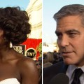 2012 Screen Actors Guild Awards Red Carpet: Are Viola Davis &amp; George Clooney Jumping Out Of A Plane Together?