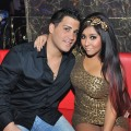 Jionni LaValle and Nicole &#8216;Snooki&#8217; Polizzi attend Luxy Entertainment Complex in Toronto on December 3, 2011