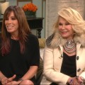 Melissa and Joan Rivers stops by Access Hollywood Live on February 1, 2012