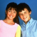 Fred Savage and Danica McKellar in a scene from 'The Wonder Years'in 1988