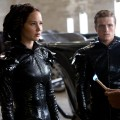 Katniss Everdeen (Jennifer Lawrence, left), Peeta Mellark (Josh Hutcherson, center) and Cinna (Lenny Kravitz, right) in 'The Hunger Games'