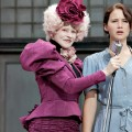 Effie Trinket (Elizabeth Banks, left) and Katniss Everdeen (Jennifer Lawrence) in 'The Hunger Games'