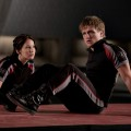 Katniss Everdeen (Jennifer Lawrence) and Peeta Mellark (Josh Hutcherson) in 'The Hunger Games'
