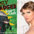 The cover of 'Honey Badger Don't Care: Randall's Guide To Crazy Nastyass Animals'; inset: Taylor Swift