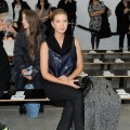 Ivanka Trump observes the Kimberly Ovitz fall 2012 fashion show during the Mercedes-Benz Fashion Week at Pace Gallery in New York City on February 9, 2012