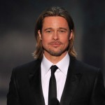 Brad Pitt speaks onstage during the 18th Annual Screen Actors Guild Awards at The Shrine Auditorium in Los Angeles on January 29, 2012