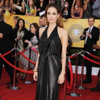 Angelina Jolie arrives at the 18th Annual Screen Actors Guild Awards held at The Shrine Auditorium on January 29, 2012 in Los Angeles