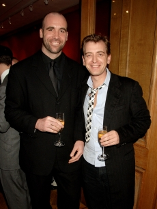 Rory McCann and Scott McKnee attend the Lighthouse Gala Auction in aid of the Terrence Higgins Trust, at Christie's, London, on March 12, 2007