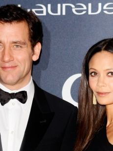 Clive Owen and Thandie Newton attend the 2012 Laureus World Sports Awards at Central Hall Westminster, London, on February 6, 2012