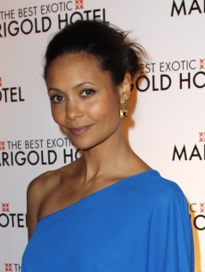 Thandie Newton attends the world premiere of 'The Best Exotic Marigold Hotel' at The Curzon Mayfair, London, on February 7, 2012