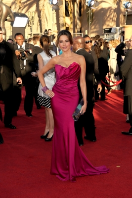 Sofia Vergara arrives at the 18th Annual Screen Actors Guild Awards at The Shrine Auditorium in Los Angeles on January 29, 2012