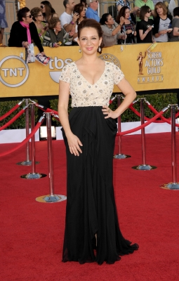 Maya Rudolph arrives at the 18th Annual Screen Actors Guild Awards at The Shrine Auditorium in Los Angeles on January 29, 2012
