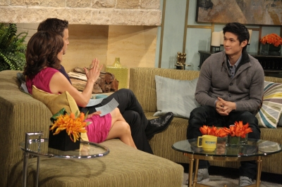 'Glee' star Harry Shum Jr. stops by Access Hollywood Live on January 31, 2012