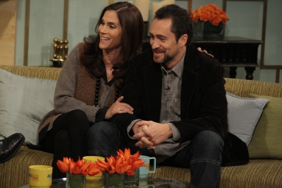 Jami Gertz and Demian Bichir beam over 'A Better Life' on Access Hollywood Live on January 31, 2012