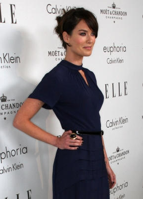 Lena Headey arrives at the 15th annual Women In Hollywood Tribute hosted by ELLE Magazine at the Four Seasons Hotel, Beverly Hills, on October 6, 2008