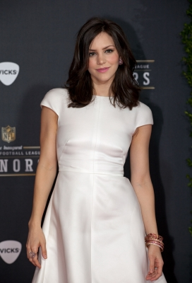 Katharine McPhee arrrives at the 2012 NFL Honors at the Murat Theatre in Indianapolis, Ind., on February 4, 2012