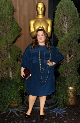 Melissa McCarthy arrives to the 84th Academy Awards Nominations Luncheon at The Beverly Hilton hotel on February 6, 2012 in Beverly Hills, Calif.