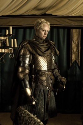 Gwendoline Christie as Brienne in 'Game of Thrones' Season 2