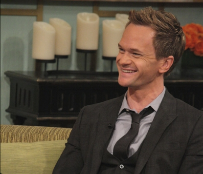 Neil Patrick Harris chats with Billy Bush and Kit Hoover on Access Hollywood Live on January 30, 2012