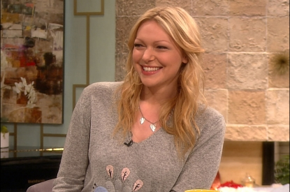 Laura Prepon stops by Access Hollywood on February 7, 2012
