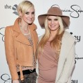 Ashlee Simpson and Jessica Simpson promote their new tween line for girls 'Jessica Simpson Girls' at The Bay in Toronto, Canada, on December 3, 2011