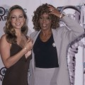 Mariah Carey and singer Whitney Houston attend the 15th Annual MTV Video Music Awards, Universal Ampitheater, Universal City, on September 10, 1998