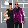 Alicia Keys and Swizz Beatz arrive at the 54th Annual Grammy Awards held at Staples Center in Los Angeles on February 12, 2012