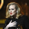 Adele speaks onstage after receiving her the Best Pop Solo Grammy award at the Staples Center during the 54th Grammy Awards in Los Angeles on February 12, 2012