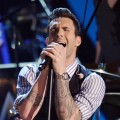 Adam Levine of Maroon 5 performs at The 54th Annual Grammy Awards at Staples Center in Los Angeles on February 12, 2012