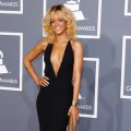 Rihanna shows off her fashion flare at the Grammys, Los Angeles, February 12, 2012