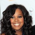 Amber Riley arrives at the 43rd NAACP Image Awards held at The Shrine Auditorium, Los Angeles, on February 17, 2012