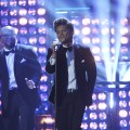 Bruno Mars performs at The Brit Awards 2012 at The O2 Arena, Los Angeles, on February 21, 2012