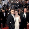 Brad Pitt and Juliette Lewis arrive at the 64th Annual Academy Awards, Los Angeles, March 30, 1992